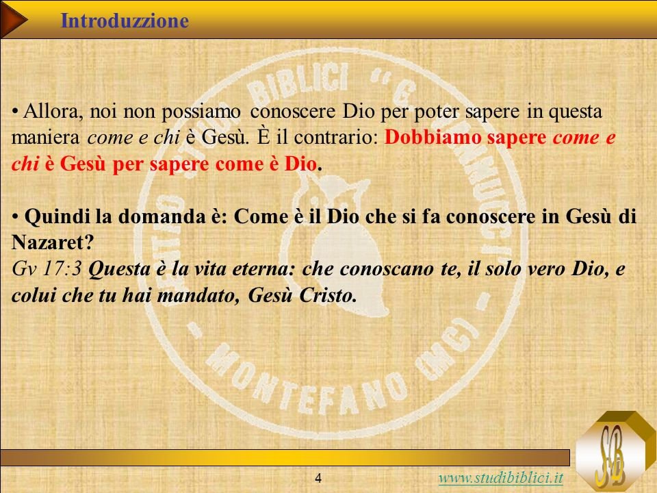 www.studibiblici.it 55 Gv (6:45; 17:7-8): Condizione per conoscere la verità È scritto nei profeti: Saranno tutti istruiti da Dio .