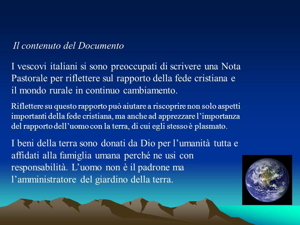 Il contenuto del Documento I vescovi italiani si sono preoccupati di scrivere una Nota Pastorale per riflettere sul rapporto della fede cristiana e il