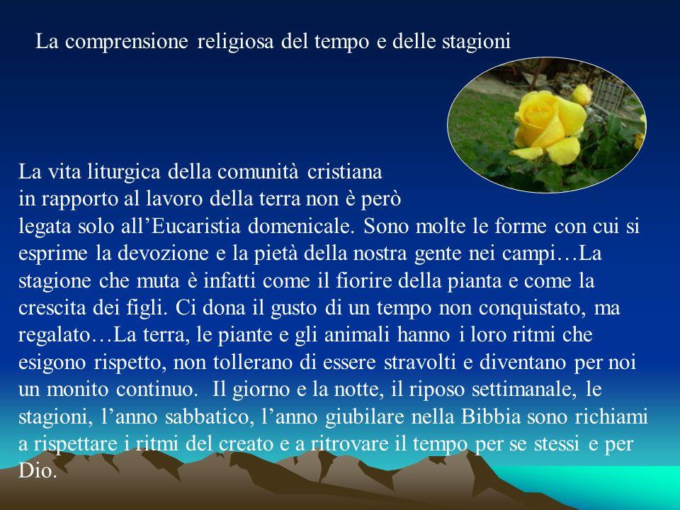 La comprensione religiosa del tempo e delle stagioni La vita liturgica della comunità cristiana in rapporto al lavoro della terra non è però legata so