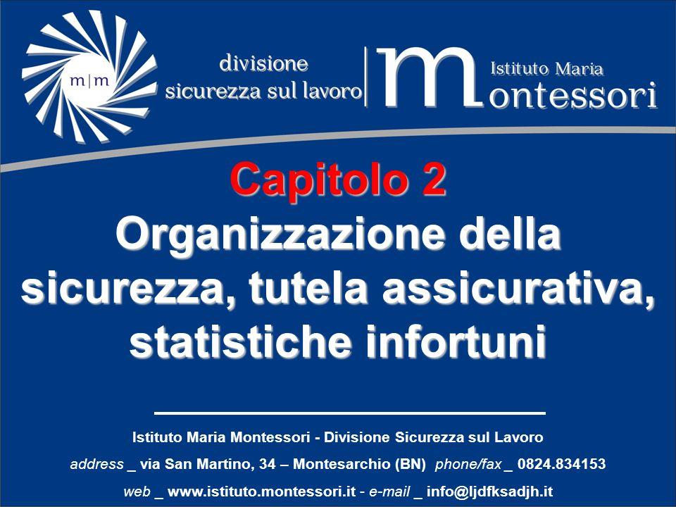 Istituto Maria Montessori - Divisione Sicurezza sul Lavoro address _ via San Martino, 34 – Montesarchio (BN) phone/fax _ 0824.834153 web _ www.istitut