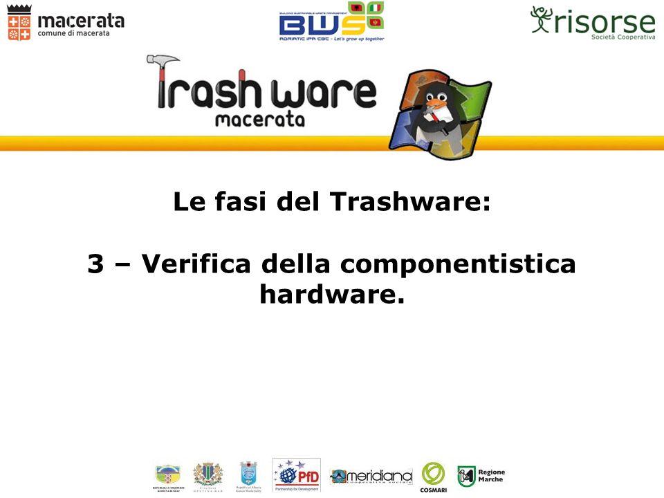 Le fasi del Trashware: 3 – Verifica della componentistica hardware.