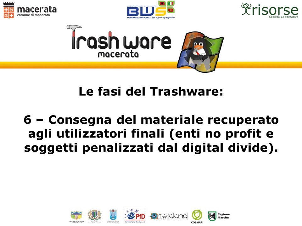 Le fasi del Trashware: 6 – Consegna del materiale recuperato agli utilizzatori finali (enti no profit e soggetti penalizzati dal digital divide).
