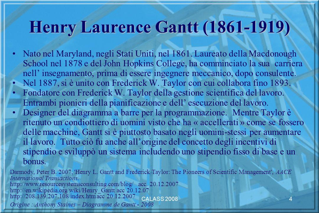 CALASS 20084 Henry Laurence Gantt (1861-1919) Nato nel Maryland, negli Stati Uniti, nel 1861.