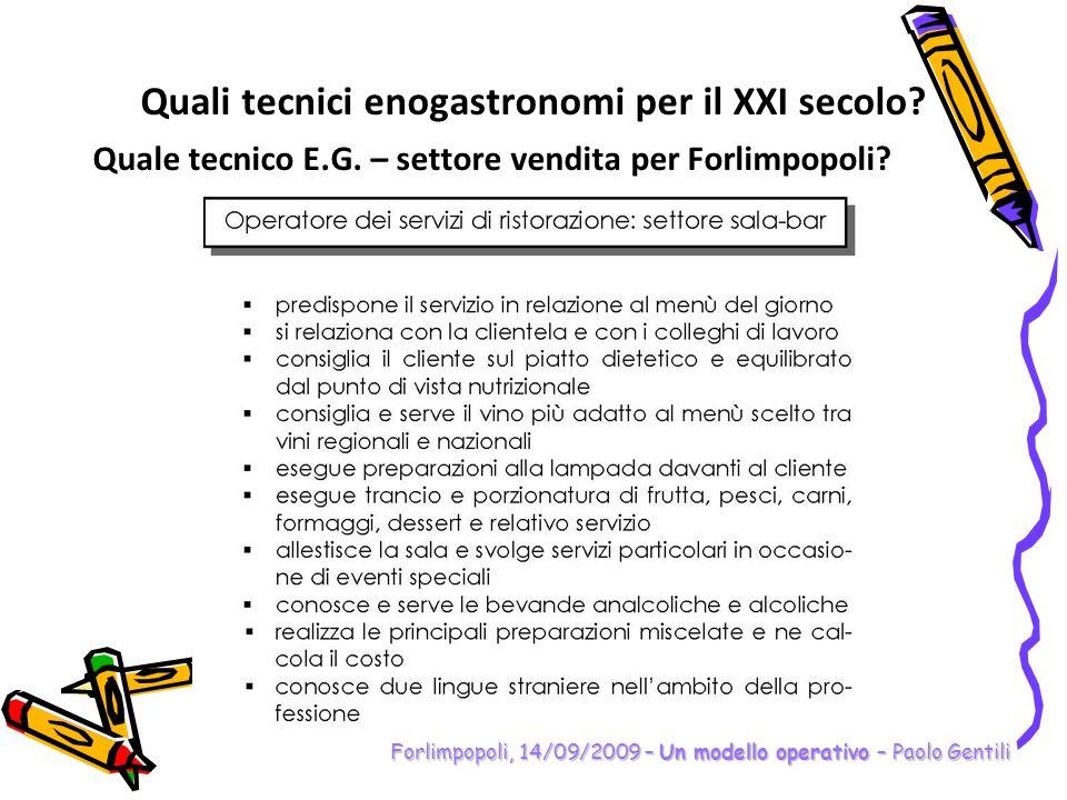 Forlimpopoli, 14/09/2009 – Un modello operativo – Paolo Gentili Preso atto della competenza (indicata dal MIUR oppure scelta nellistituto), che cosa deve fare ogni gruppo di materia.
