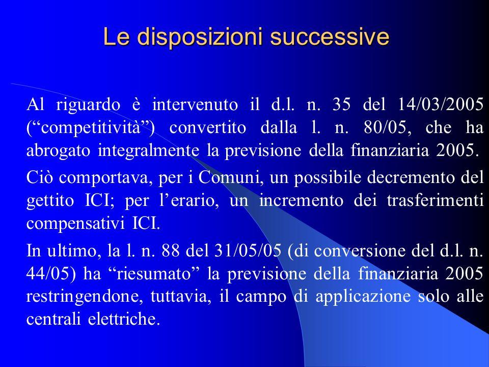 Le disposizioni successive Al riguardo è intervenuto il d.l. n. 35 del 14/03/2005 (competitività) convertito dalla l. n. 80/05, che ha abrogato integr