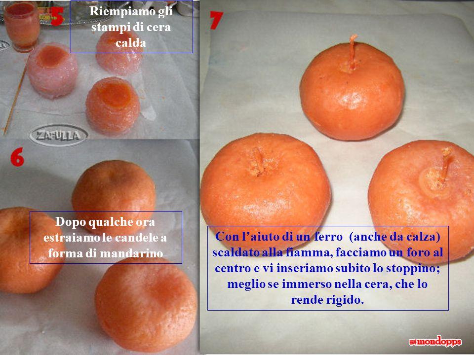 Acquistate il silicone, anche economico, va bene di qualsiasi tipo; poi passatelo su tutta la superficie dei mandarini in uno strato alto più o meno m