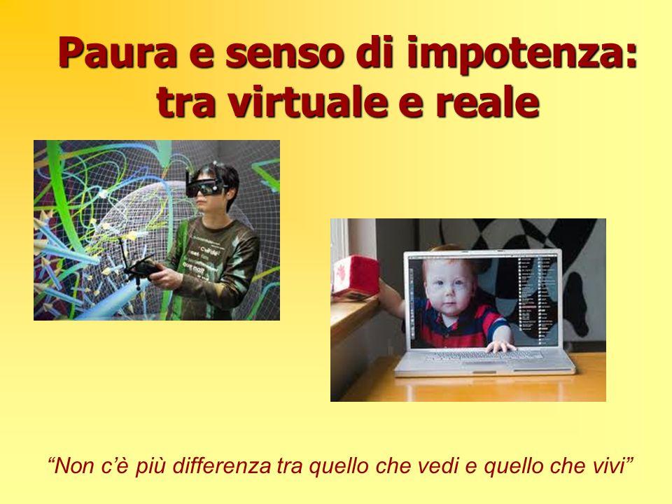 Paura e senso di impotenza: tra virtuale e reale Non cè più differenza tra quello che vedi e quello che vivi