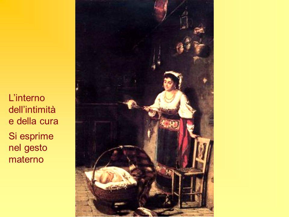 Linterno dellintimità e della cura Si esprime nel gesto materno