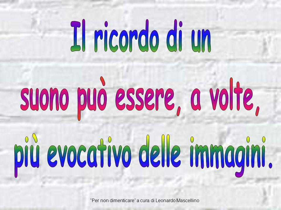 Per non dimenticare a cura di Leonardo Mascellino Guccini
