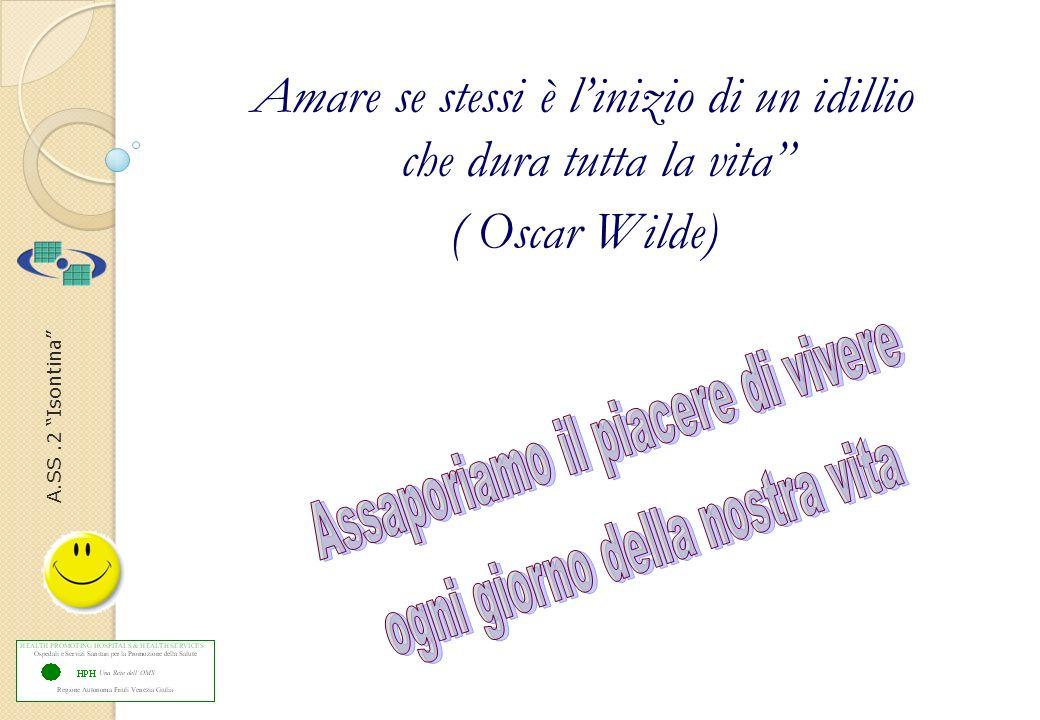 A.SS.2 Isontina Amare se stessi è linizio di un idillio che dura tutta la vita ( Oscar Wilde)