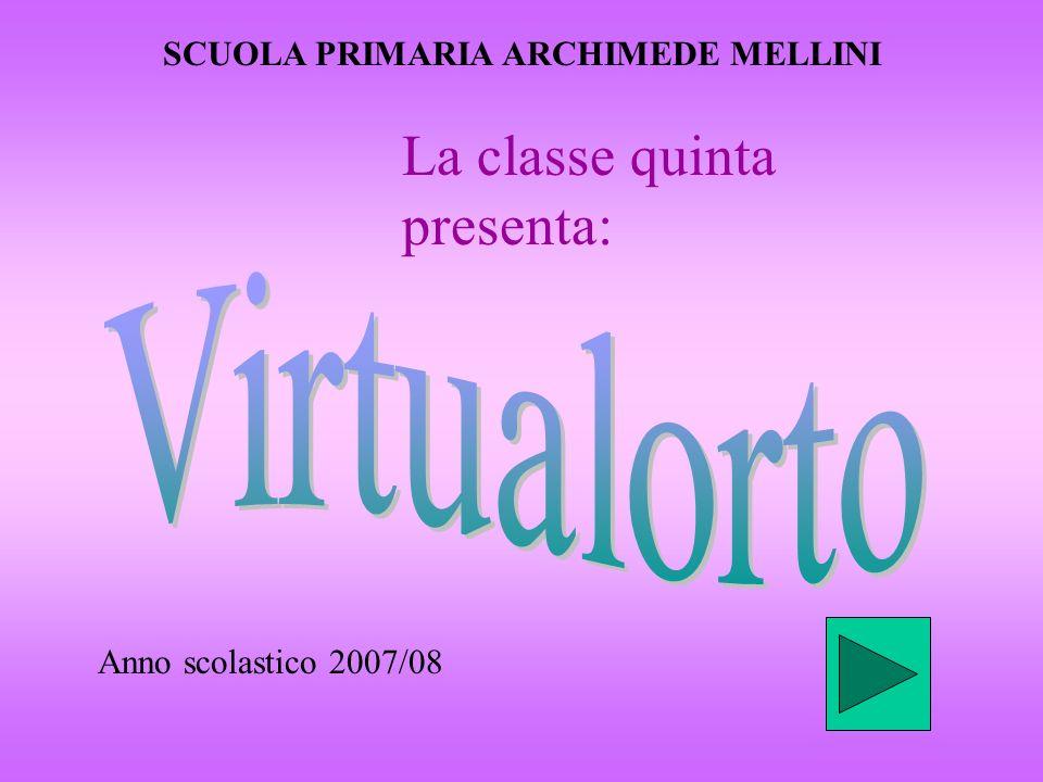 SCUOLA PRIMARIA ARCHIMEDE MELLINI Anno scolastico 2007/08 La classe quinta presenta: