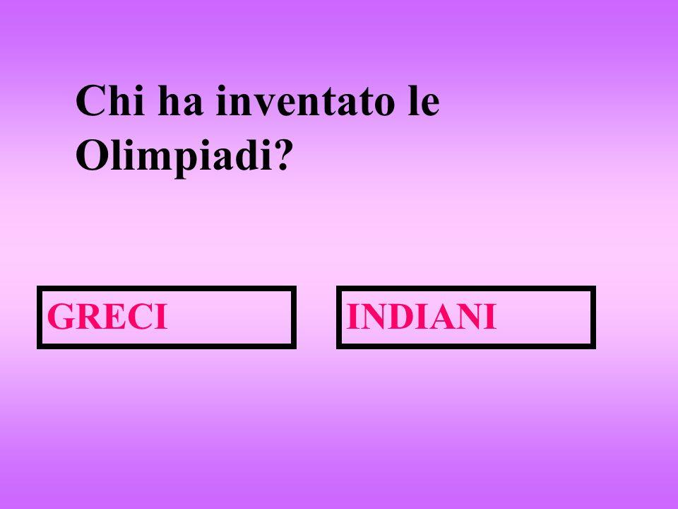 Chi ha inventato le Olimpiadi? GRECIINDIANI