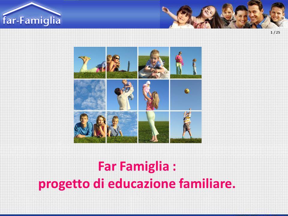 Far Famiglia : progetto di educazione familiare. 1 / 25