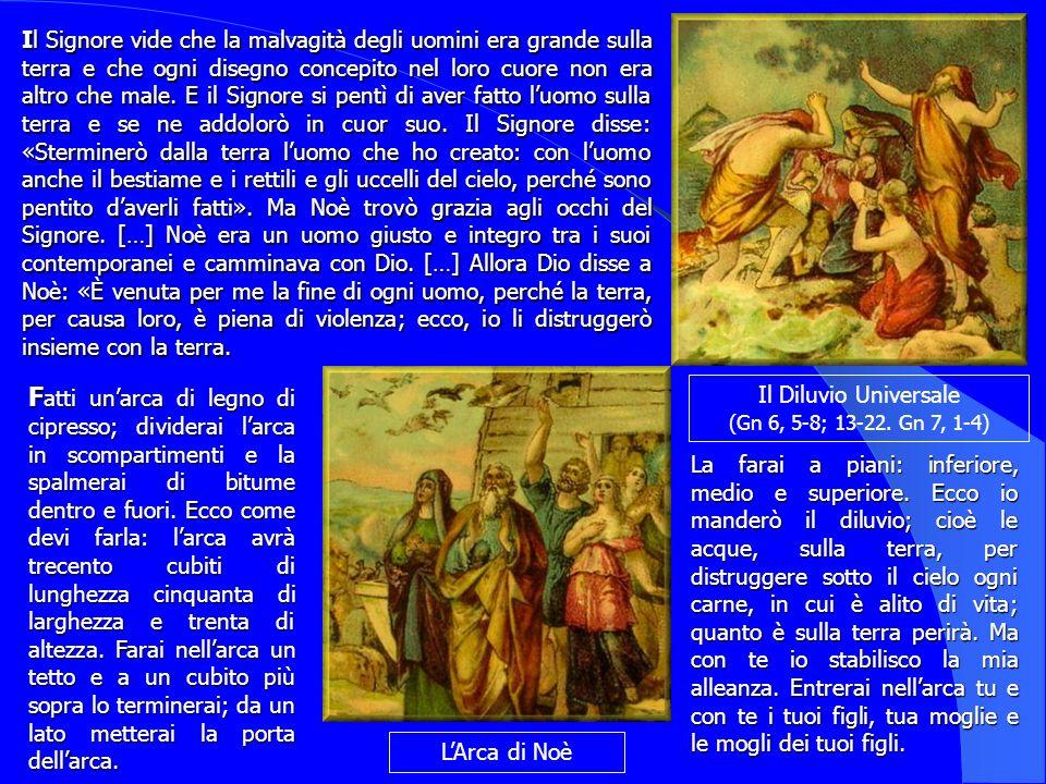 Il Il Signore vide che la malvagità degli uomini era grande sulla terra e che ogni disegno concepito nel loro cuore non era altro che male. E il Signo