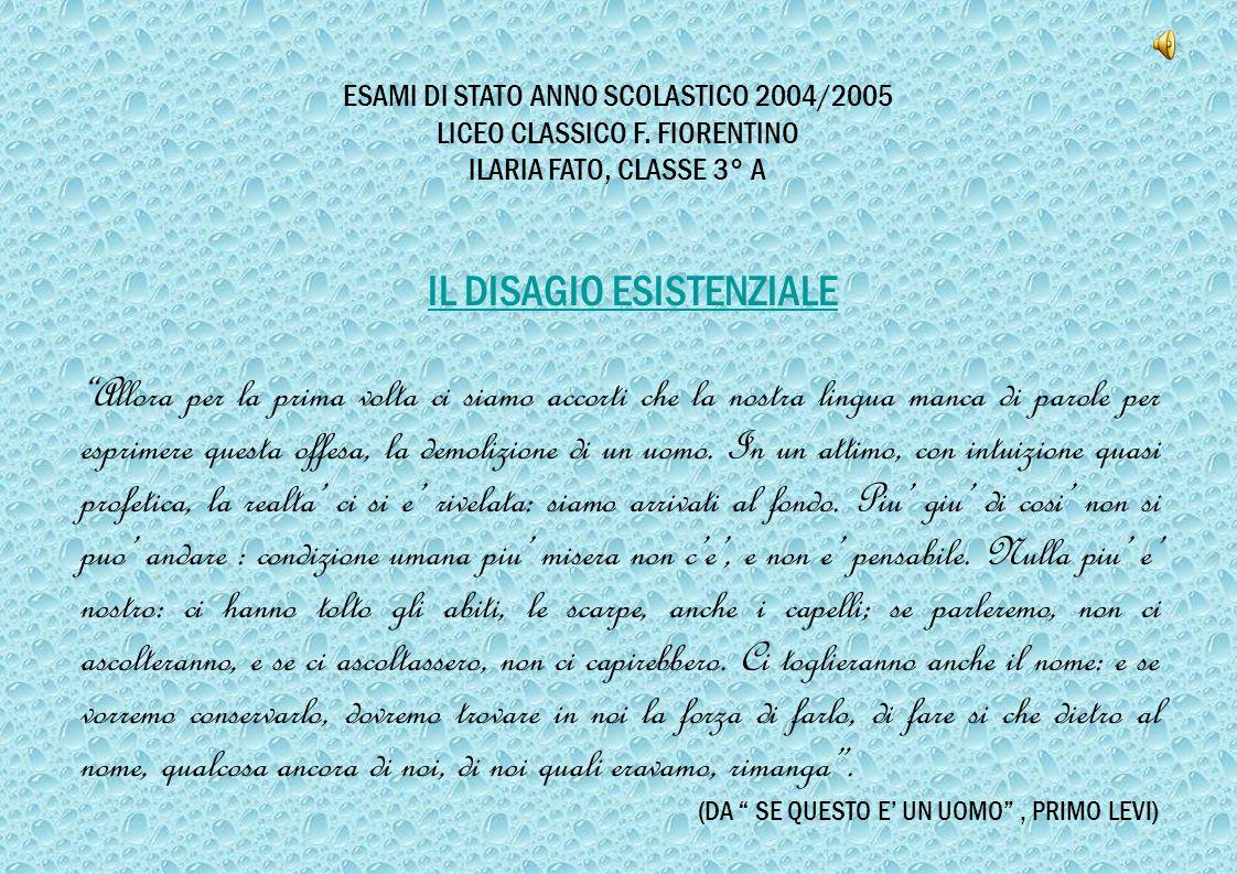 ESAMI DI STATO ANNO SCOLASTICO 2004/2005 LICEO CLASSICO F.