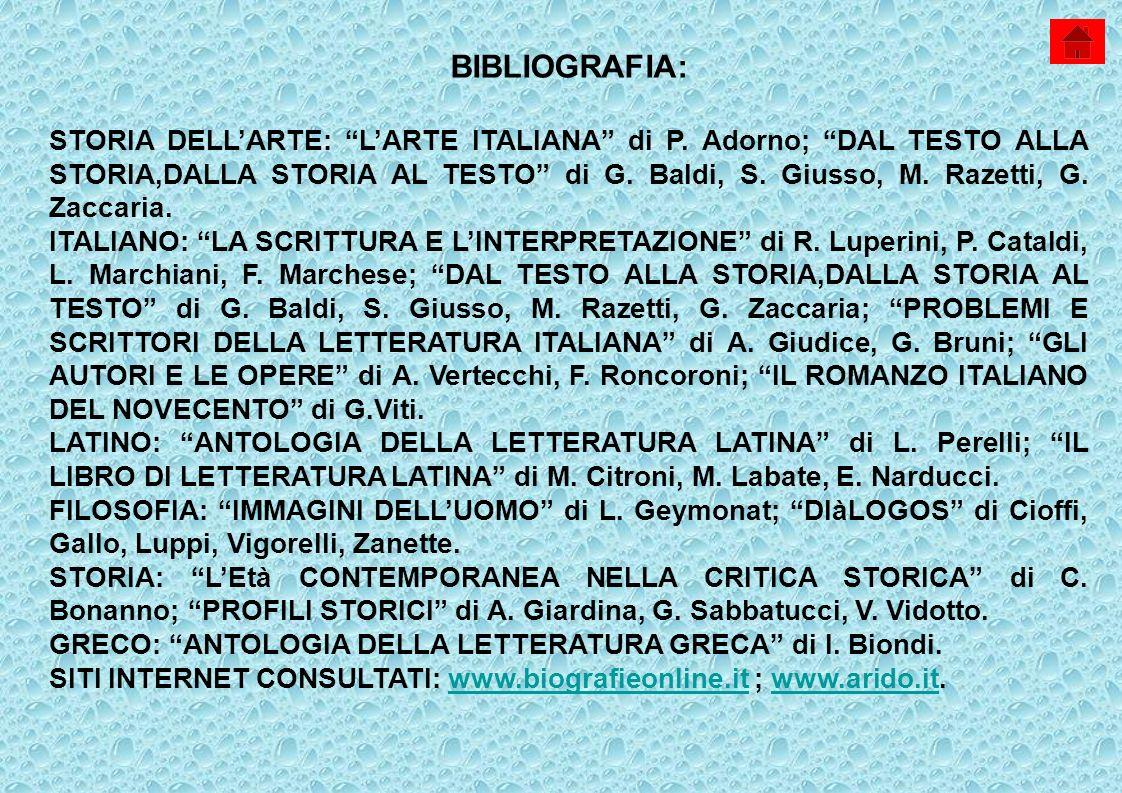 BIBLIOGRAFIA: STORIA DELLARTE: LARTE ITALIANA di P.