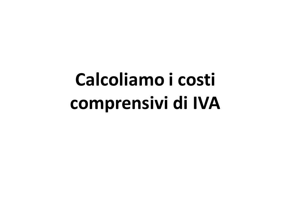 Calcoliamo i costi comprensivi di IVA