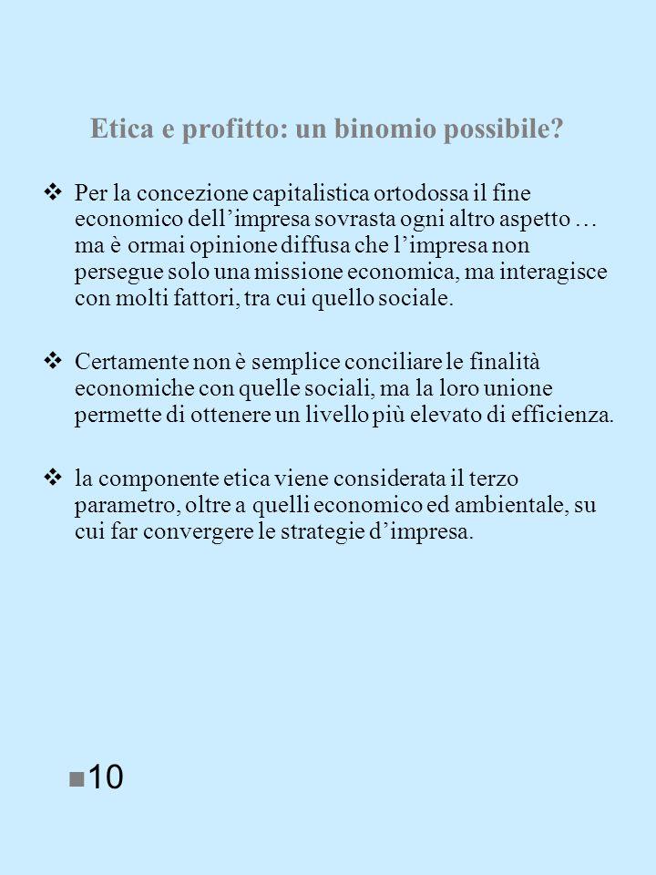 Etica e profitto: un binomio possibile.