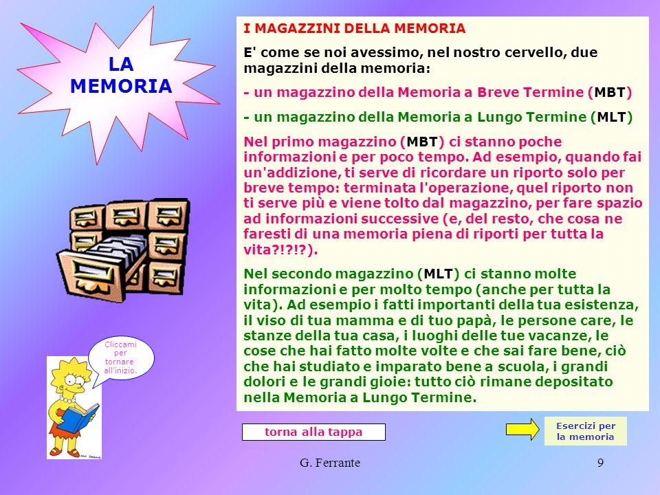 G. Ferrante8 5.a TAPPA - Saper fare È importante saper fare le cose anche in pratica... Molti argomenti che studi o che studierai hanno legami con asp