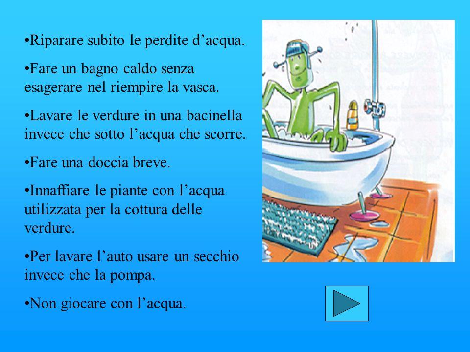 I COMPORTAMENTI DA ADOTTARE: Per lavarsi i denti non serve tenere il rubinetto aperto, facendo scorrere lacqua. I dentisti consigliano uno spazzolino