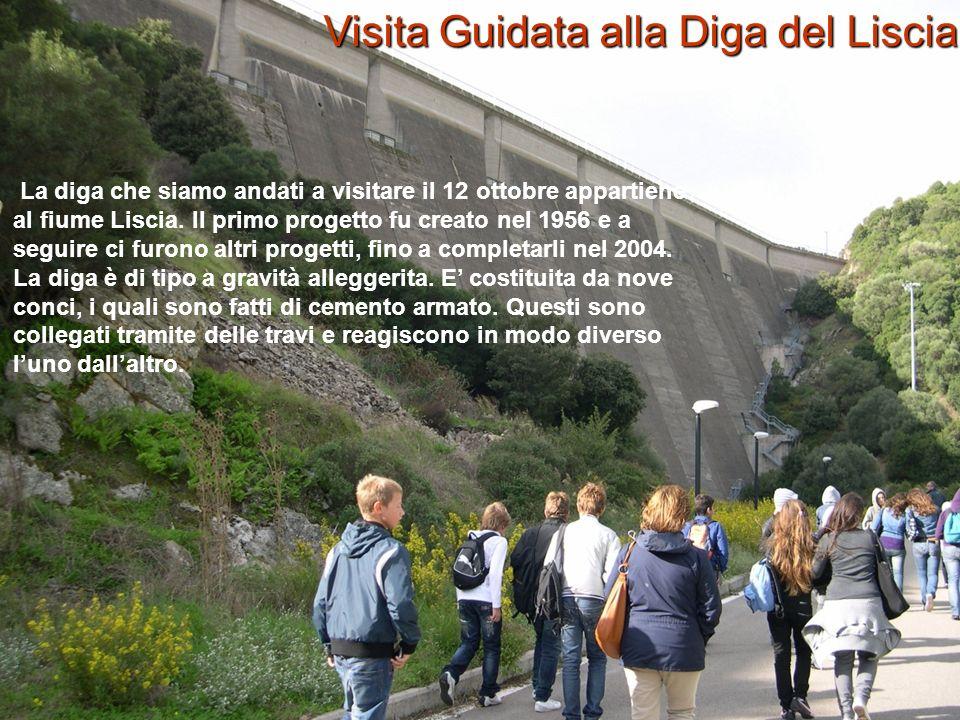 La diga che siamo andati a visitare il 12 ottobre appartiene al fiume Liscia. Il primo progetto fu creato nel 1956 e a seguire ci furono altri progett