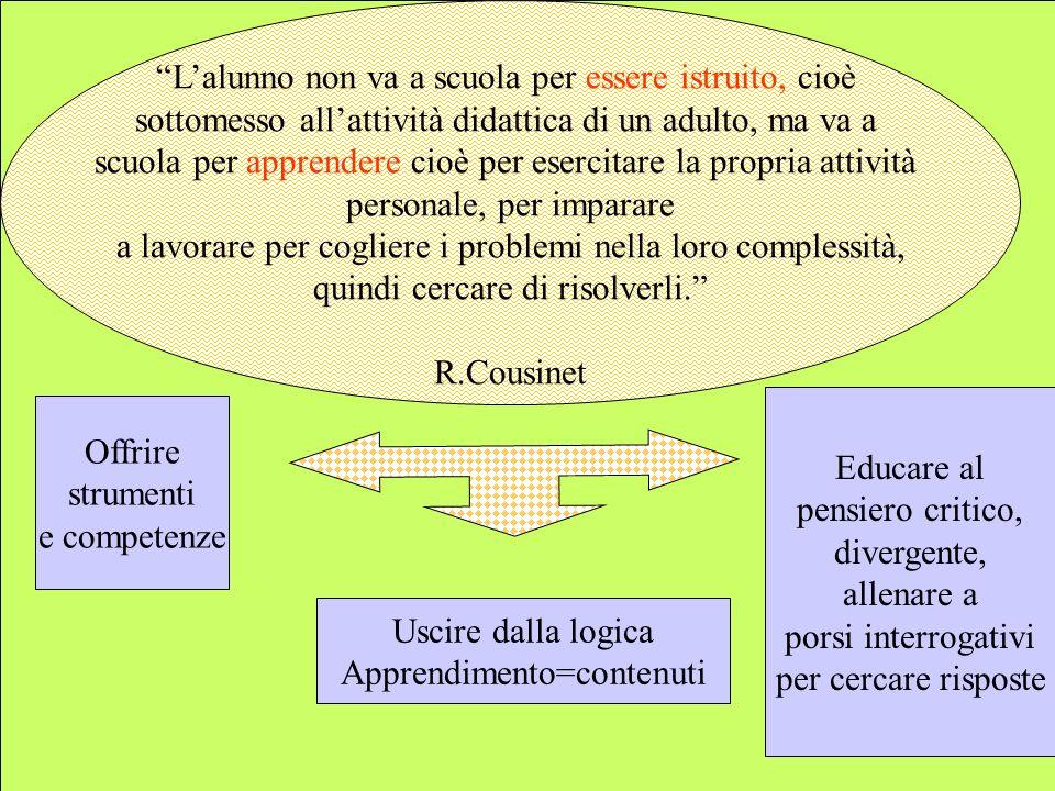 LA CLASSE COMUNITA DI APPRENDIMENTO Percorsi didattici in apprendimento cooperativo.