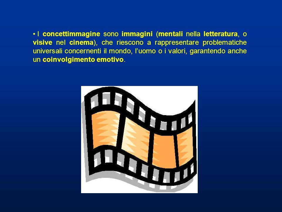I concettimmagine sono immagini (mentali nella letteratura, o visive nel cinema), che riescono a rappresentare problematiche universali concernenti il