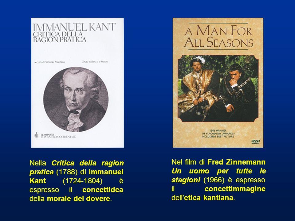 Nella Critica della ragion pratica (1788) di Immanuel Kant (1724-1804) è espresso il concettidea della morale del dovere. Nel film di Fred Zinnemann U