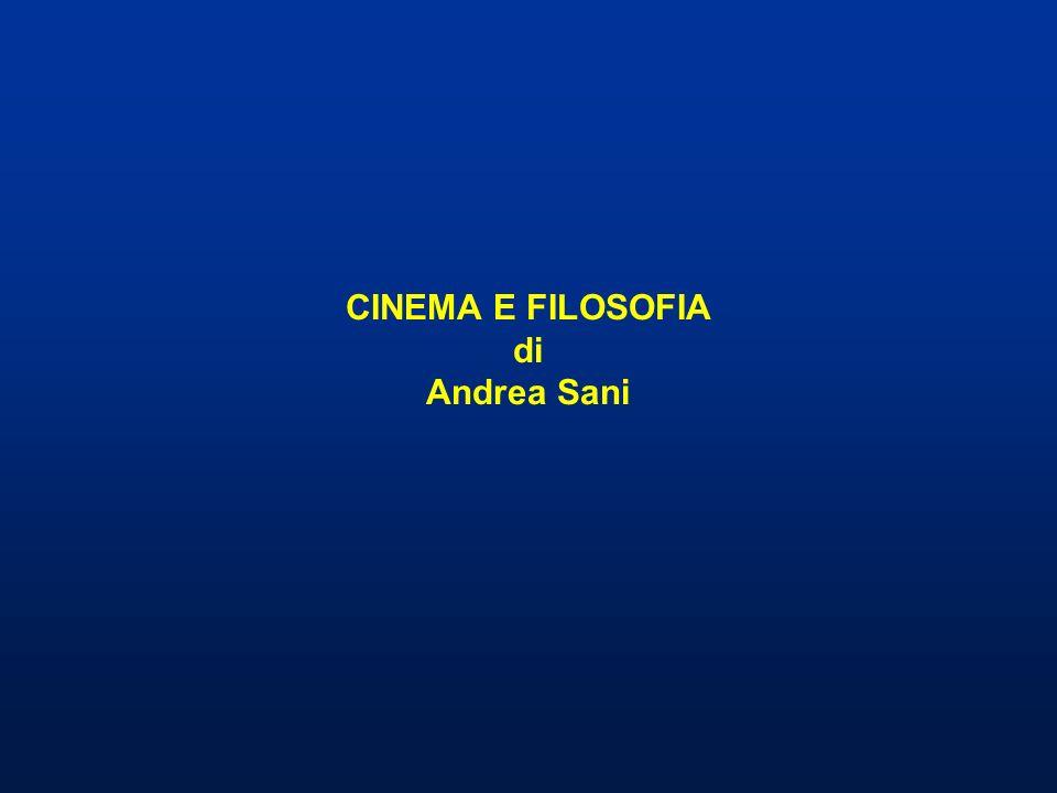 Estetica cinematografica e filosofia del cinema Il rapporto tra cinema e filosofia può essere affrontato da due punti di vista diversi: dal punto di vista dellestetica cinematografica e dal punto di vista della filosofia del cinema.