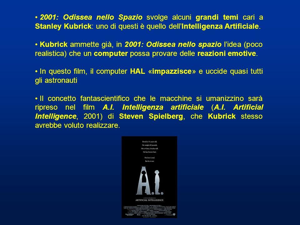2001: Odissea nello Spazio svolge alcuni grandi temi cari a Stanley Kubrick: uno di questi è quello dellIntelligenza Artificiale. Kubrick ammette già,