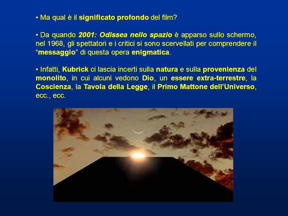 Ma qual è il significato profondo del film? Da quando 2001: Odissea nello spazio è apparso sullo schermo, nel 1968, gli spettatori e i critici si sono