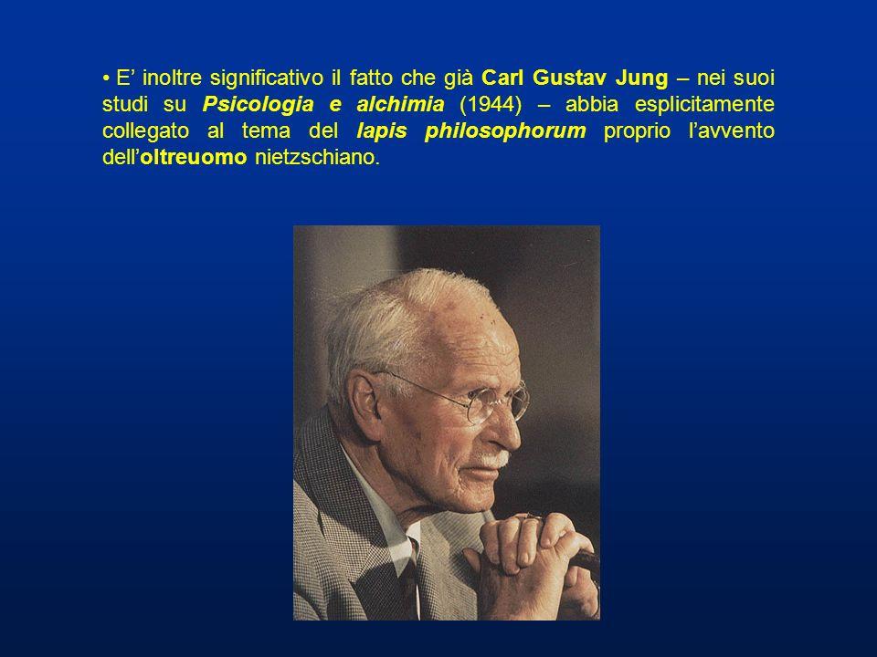 E inoltre significativo il fatto che già Carl Gustav Jung – nei suoi studi su Psicologia e alchimia (1944) – abbia esplicitamente collegato al tema de