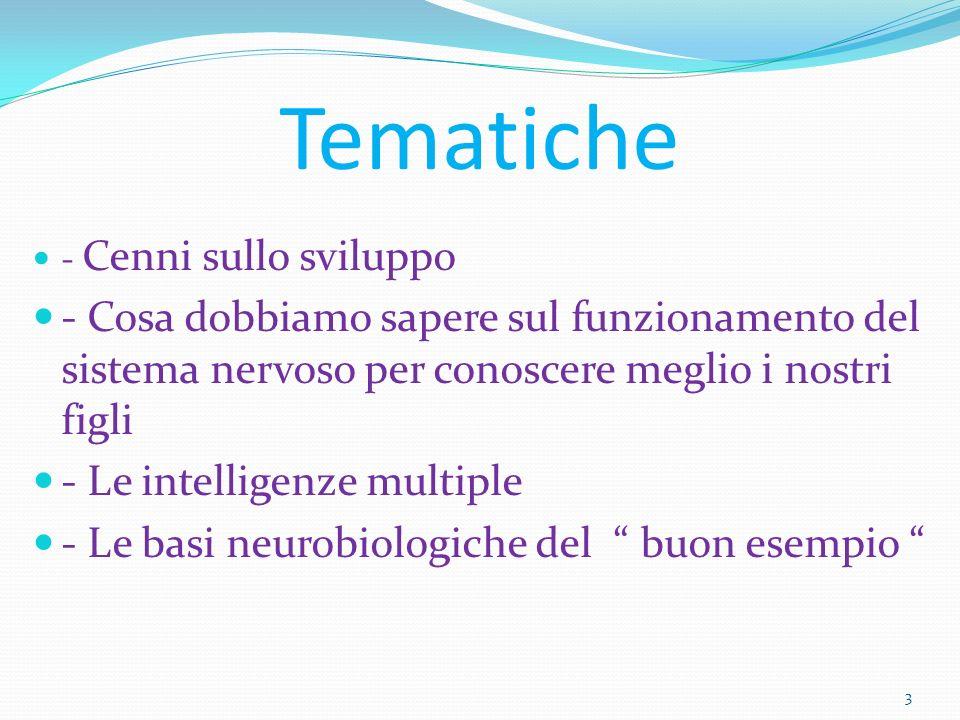 34 Tali scoperte nel campo delle neuroscienze danno un ulteriore fondamento biologico alla metodologia montessoriana.