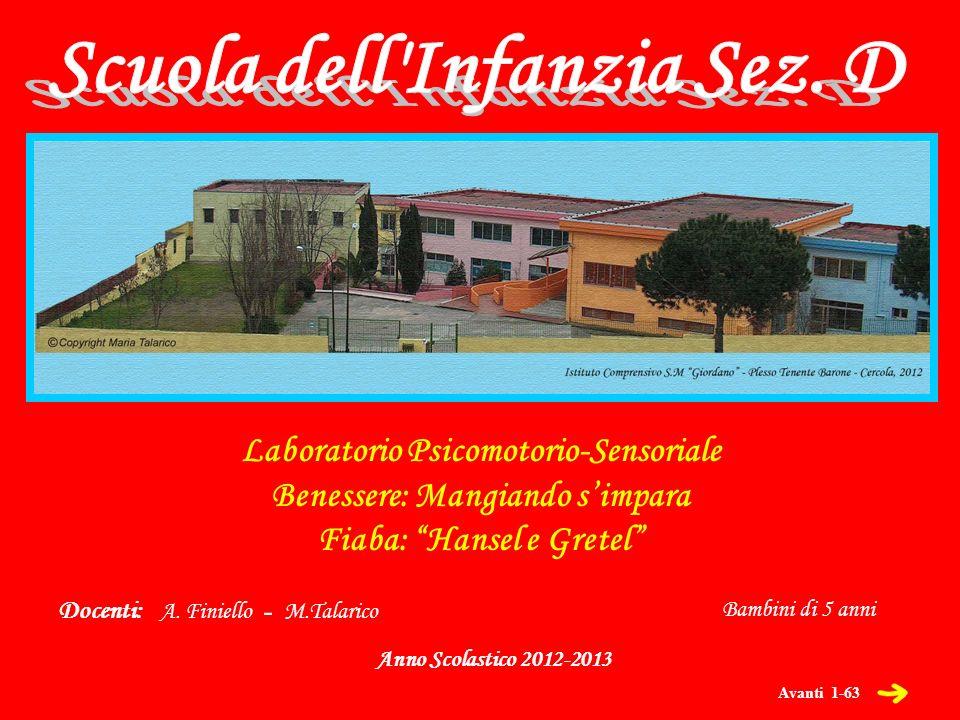 Laboratorio Psicomotorio-Sensoriale Benessere: Mangiando simpara Fiaba: Hansel e Gretel Anno Scolastico 2012-2013 Docenti: A.