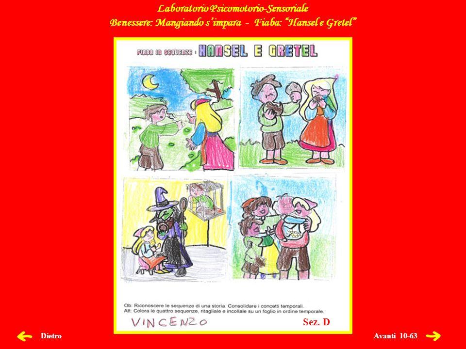 Avanti 11-63 Dietro Laboratorio Psicomotorio-Sensoriale Benessere: Mangiando simpara - Fiaba: Hansel e Gretel Sez.