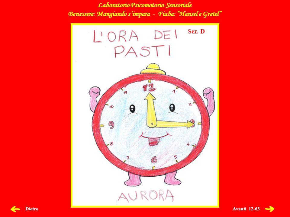 Avanti 12-63 Dietro Laboratorio Psicomotorio-Sensoriale Benessere: Mangiando simpara - Fiaba: Hansel e Gretel Sez.