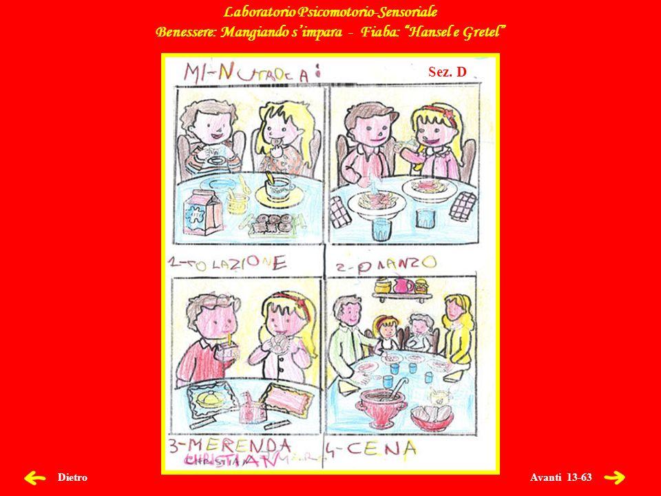 Avanti 13-63 Dietro Laboratorio Psicomotorio-Sensoriale Benessere: Mangiando simpara - Fiaba: Hansel e Gretel Sez.