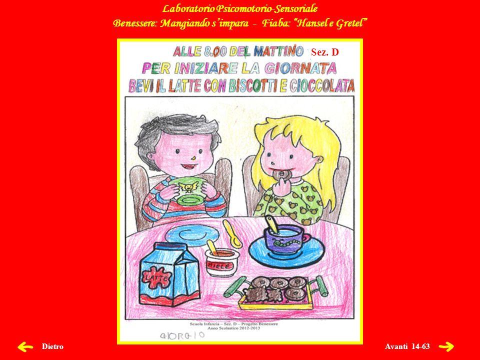 Avanti 14-63 Dietro Laboratorio Psicomotorio-Sensoriale Benessere: Mangiando simpara - Fiaba: Hansel e Gretel Sez.