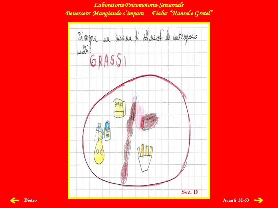 Avanti 32-63 Dietro Laboratorio Psicomotorio-Sensoriale Benessere: Mangiando simpara - Fiaba: Hansel e Gretel Sez.