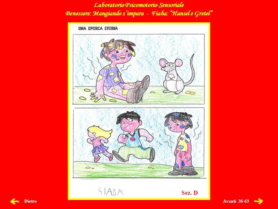 Avanti 36-63 Dietro Laboratorio Psicomotorio-Sensoriale Benessere: Mangiando simpara - Fiaba: Hansel e Gretel Sez.