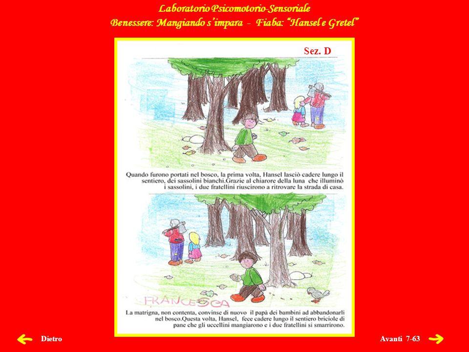 Avanti 7-63 Dietro Laboratorio Psicomotorio-Sensoriale Benessere: Mangiando simpara - Fiaba: Hansel e Gretel Sez.