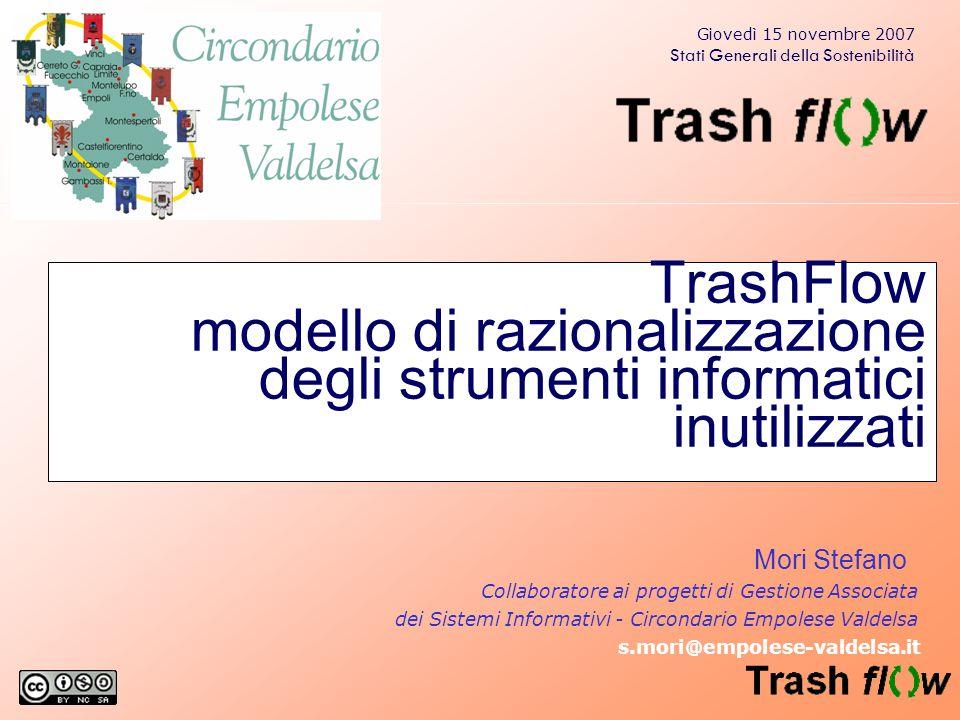 TrashFlow modello di razionalizzazione degli strumenti informatici inutilizzati Mori Stefano Collaboratore ai progetti di Gestione Associata dei Siste