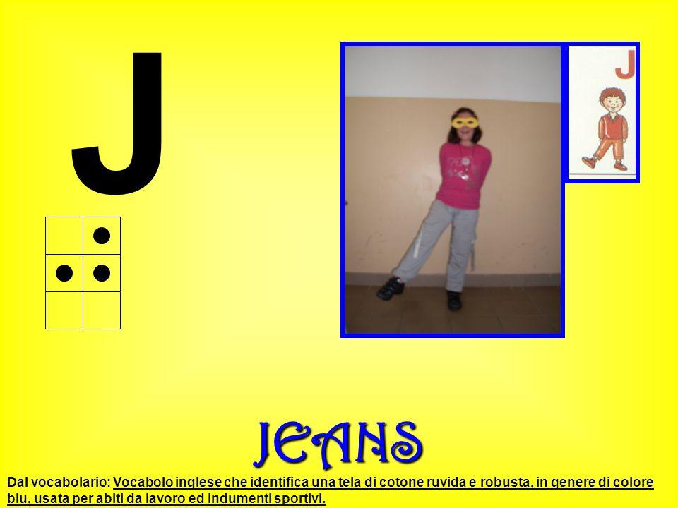 JJEANS Dal vocabolario: Vocabolo inglese che identifica una tela di cotone ruvida e robusta, in genere di colore blu, usata per abiti da lavoro ed ind