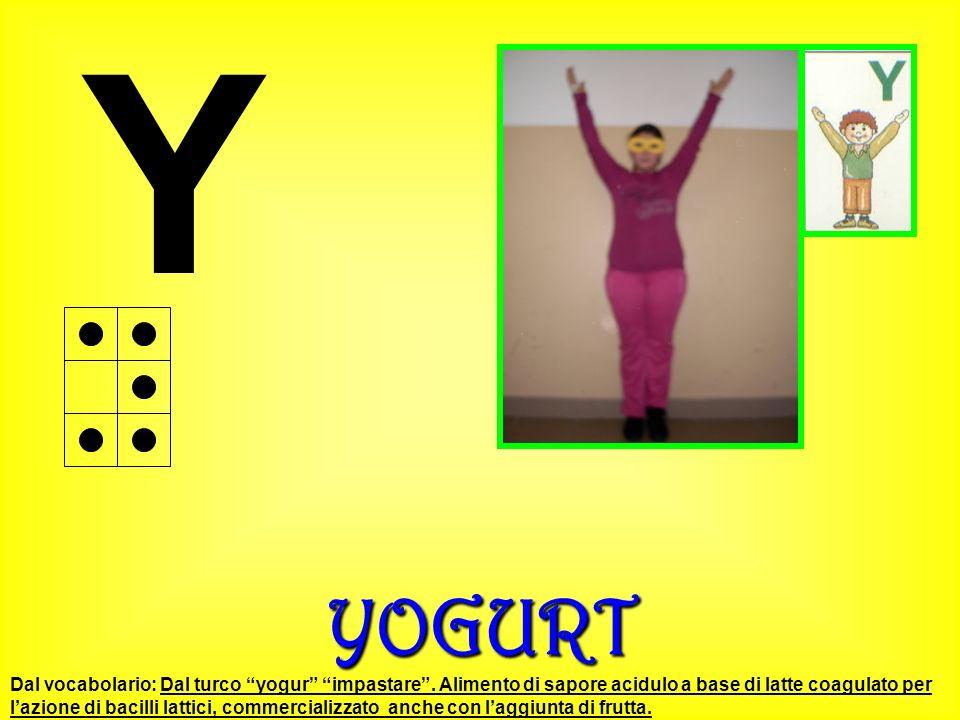 YYOGURT Dal vocabolario: Dal turco yogur impastare. Alimento di sapore acidulo a base di latte coagulato per lazione di bacilli lattici, commercializz