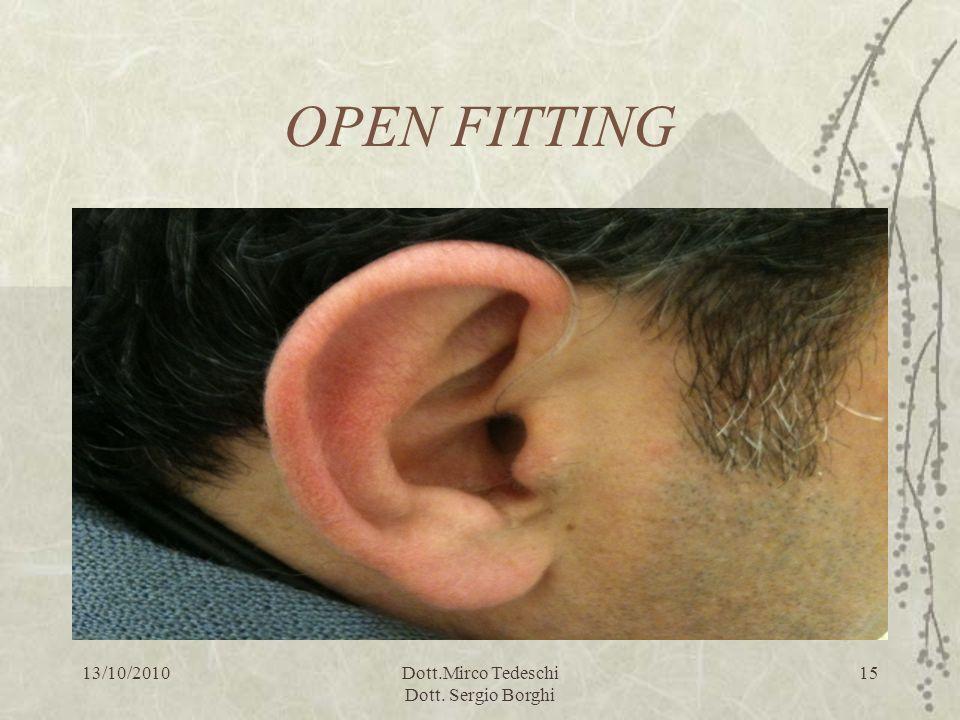 13/10/2010Dott.Mirco Tedeschi Dott. Sergio Borghi 15 OPEN FITTING