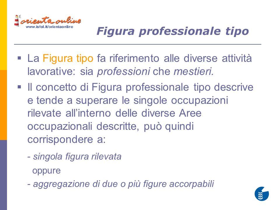 La Figura tipo fa riferimento alle diverse attività lavorative: sia professioni che mestieri.