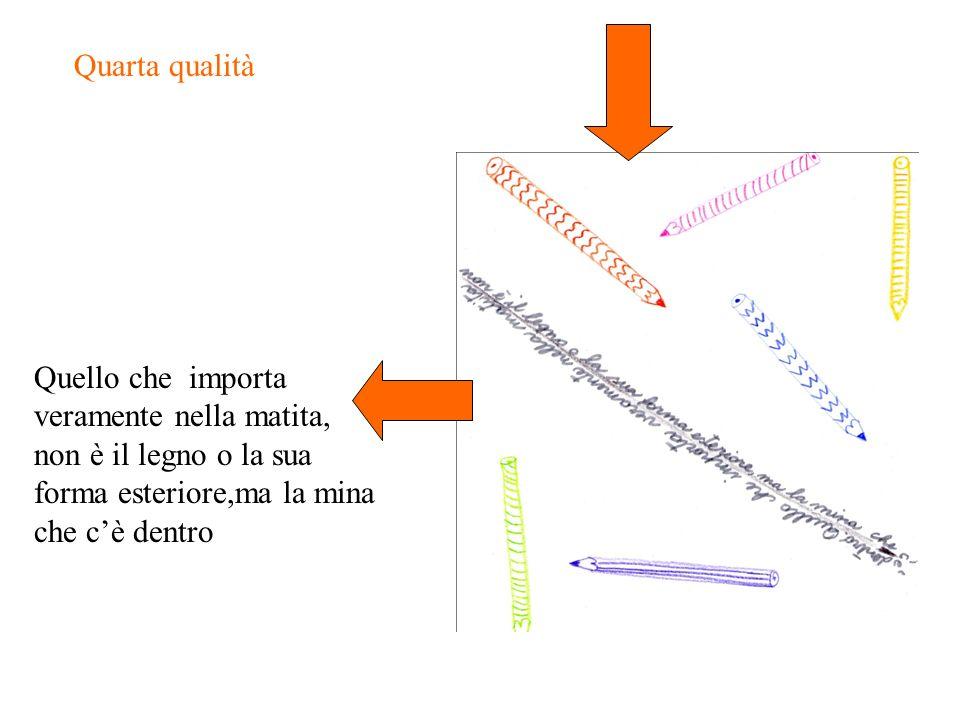 Quarta qualità Quello che importa veramente nella matita, non è il legno o la sua forma esteriore,ma la mina che cè dentro