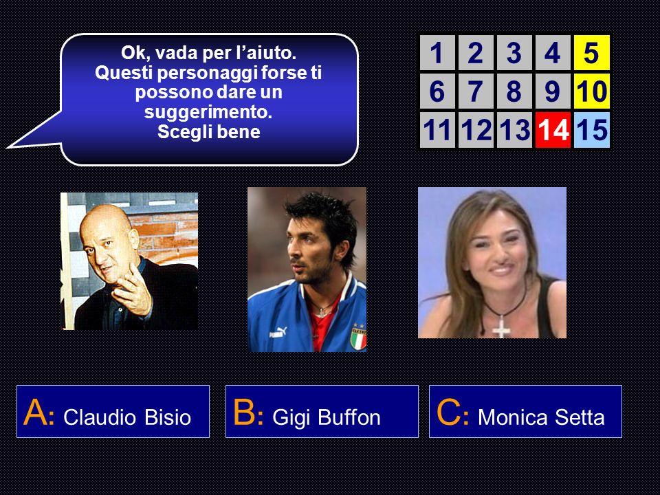 Quanti gol ha subito Paolo Visentini nella stagione 2004 – 2005 ? A : 27 B : 37 C : 31 D : 34 Sei esperto, ma ora viene il bello. Lemozione gioca un r