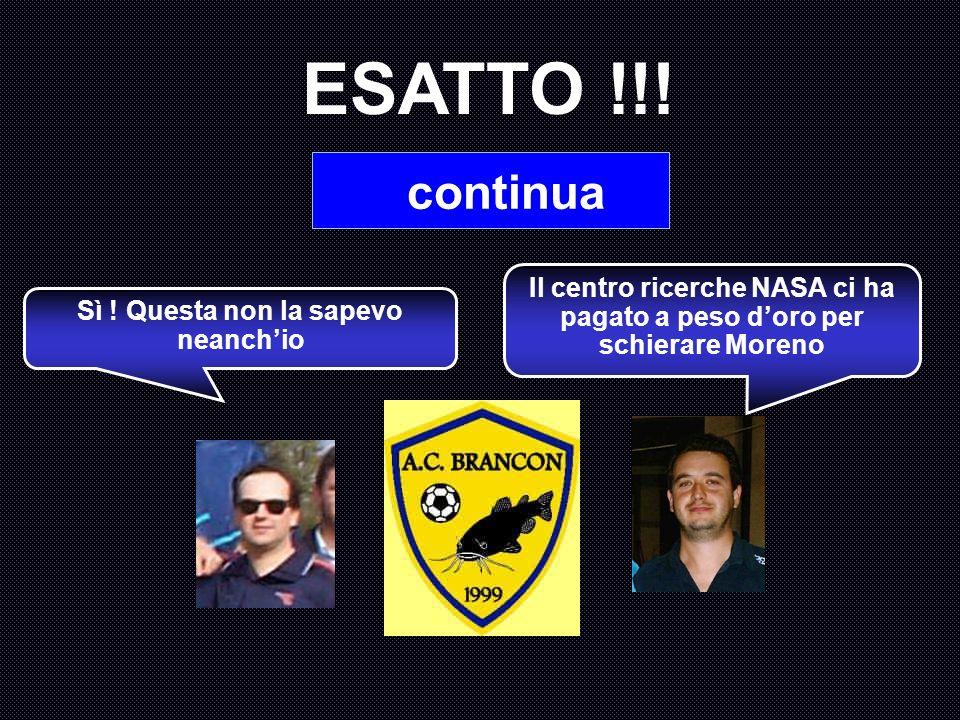 Quante presenze può vantare Moreno nel Torneo 2002-2003 di calcio a 5, prima stagione assoluta del Brancon ? A : 5 B : 4 C : 8 D : 1 Il grande Cotechi
