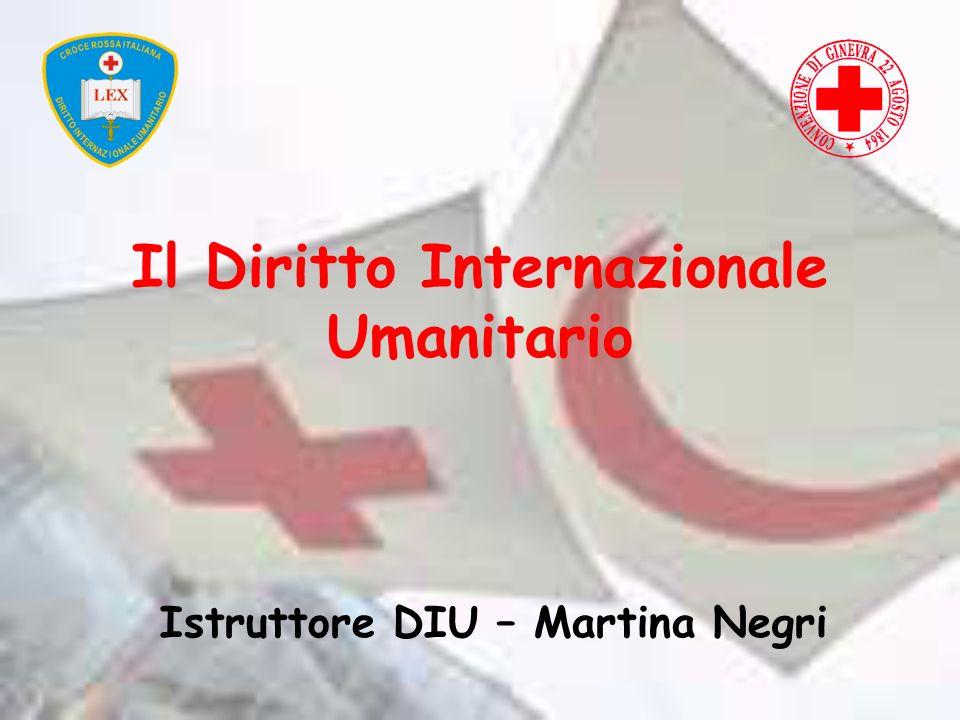Il Diritto Internazionale Umanitario Istruttore DIU – Martina Negri